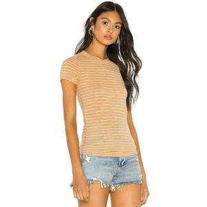 Free People XS Tee Orange Yellow T-shirt Top